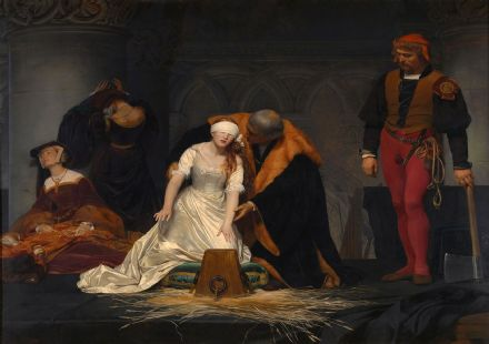 Delaroche, Paul (Hippolyte): The Execution of Lady Jane Grey. Fine Art Print.  (00598)